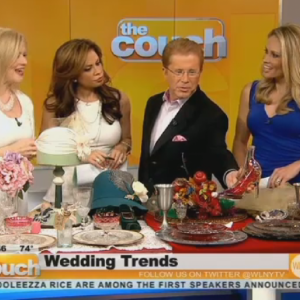 Stylist and prop designer for Lolita Healy wedding trends -CBS-