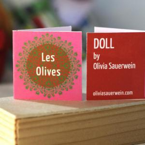 -Les Olives-  Tag/card design by Littlebylittle.co